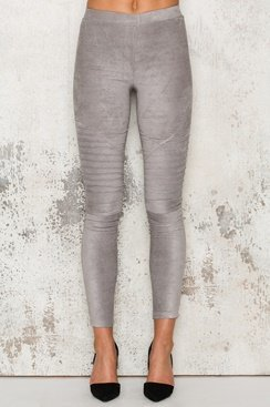 Suede Pants - Grey