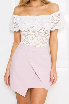 Bella Lace Top - White