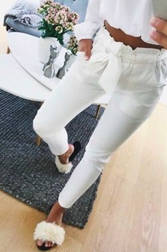 Freya Pants - White
