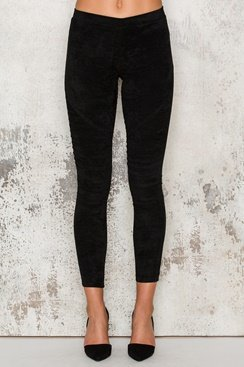Suede Pants - Black